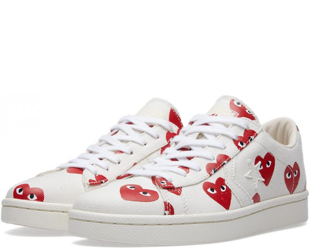 f3f237154c7bbd All The Sneakers  Comme des Garcons Play x Converse Pro Leather Low ...