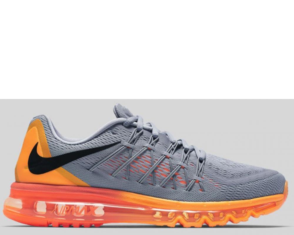 pretty nice fea40 13ff2 Nike Nike Air Max 2015 Wolf Grey Black Total Orange Preorder (698902-080