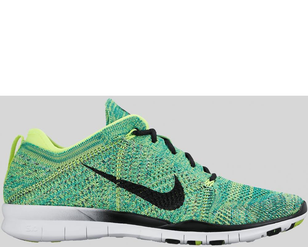 14b14496acd5 All The Sneakers  Nike Wmns Free TR Flyknit Volt Black (Pre-order ...