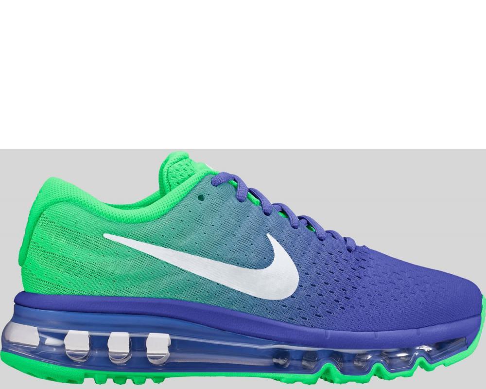 7001095c67 Nike: Nike Air Max 2017 GS Paramount Blue White Electro Green Preorder  (851622-