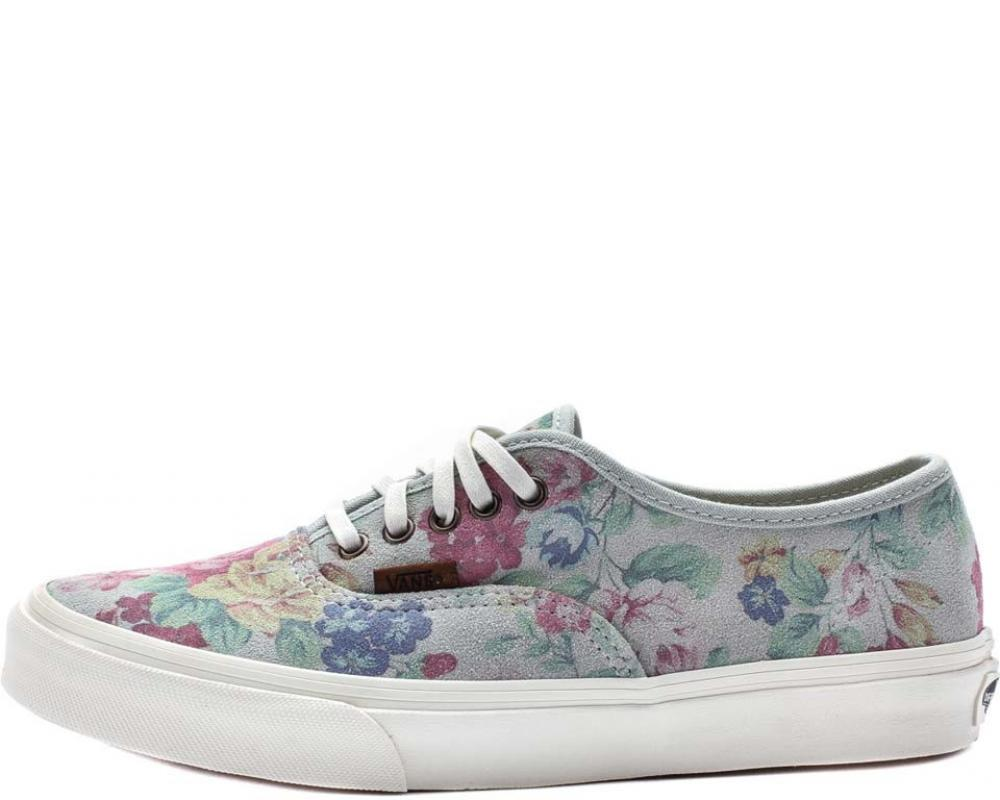 d4e17cb03cb18b All The Sneakers  Authentic Slim Suede Floral (Vans    VN-0XG6EH5)