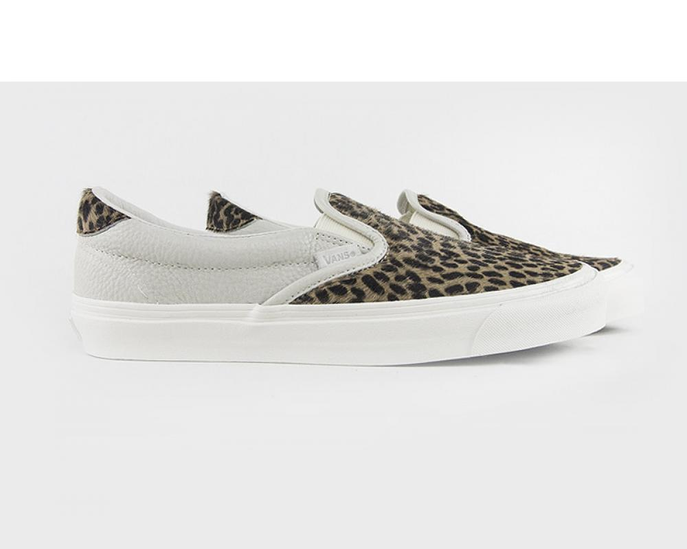 da0f3844ca22 All The Sneakers  VANS VAULT OG SLIP ON 59 LX PONY HAIR LEOPARD ...